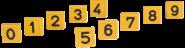 Blocknummern für Halmarkierungsbänder