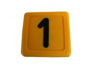 Blocknummer 1 für Halsmarkierungsbänder 1