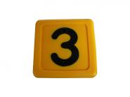 Blocknummer 3 für Halsmarkierungsbänder 3