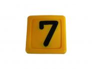 Blocknummer 7  für Halsmarkierungsbänder 7