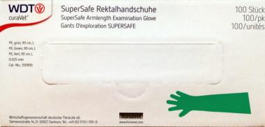curaVet® SuperSafe Rektalhandschuhe mit Schulterschutz 50 Stk. Gr. S